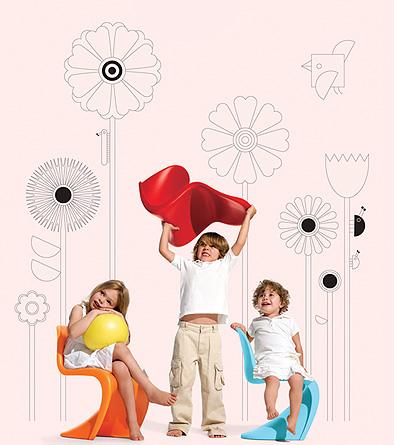 Panton Junior, silla de diseño para niños