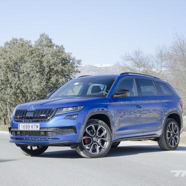 Probamos el Škoda Kodiaq RS: 240 CV y 500 Nm para un SUV de siete plazas enérgico pero confortable