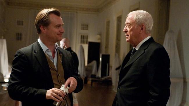 Christopher Nolan y Michael Caine