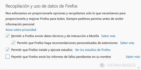 Datos Firefox