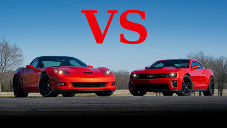 Chevrolet Corvette ZR1 contra Camaro ZL1 en circuito