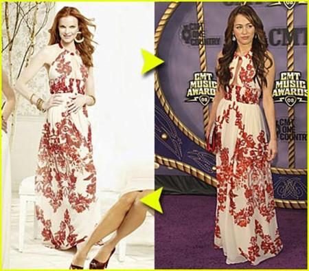 Vestido de Cavalli: ¿Marcia o Miley?