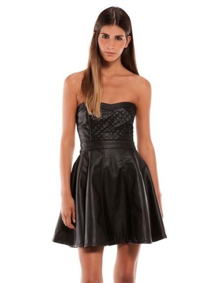 vestido cuero negro