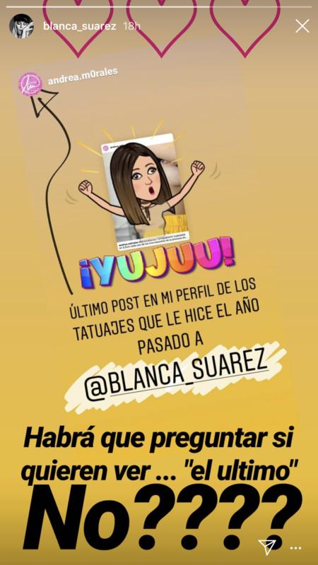 Blanca Suárez tatuaje