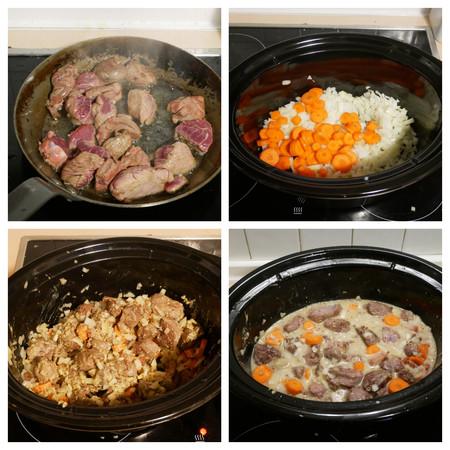 Collage Carne Mostaza