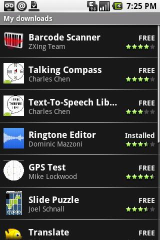 Android Market, la tienda de aplicaciones de Android