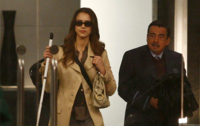 Jessica Alba en el set de 'The Eye'