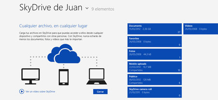 Actualización de Skydrive para Windows 8 Modern UI