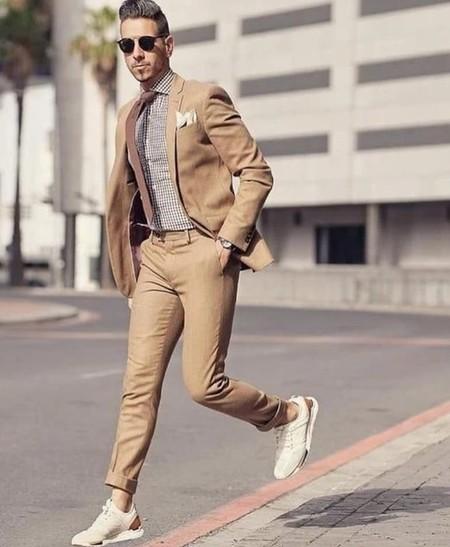 Tan Suit Men Street Style Beige Trendencias Hombre 14