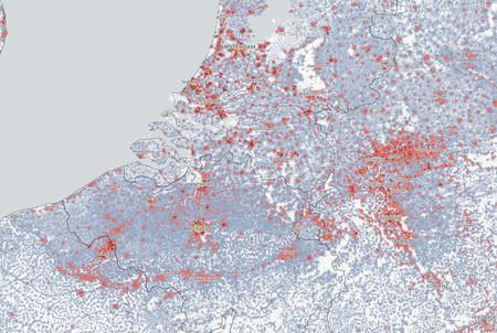 Mapa Demografico Holanda