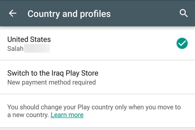 land ändern google
