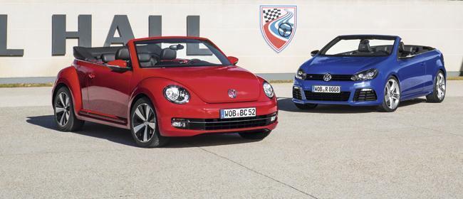 Volkswagen Beetle Cabrio y Golf R Cabrio