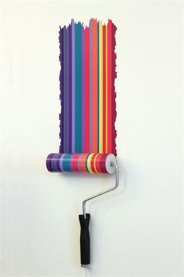 La adivinanza decorativa del viernes: rodillo y pintura