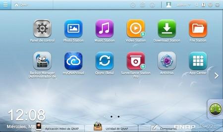 Pantalla principal del QTS 4.0, el nuevo sistema operativo de QNAS