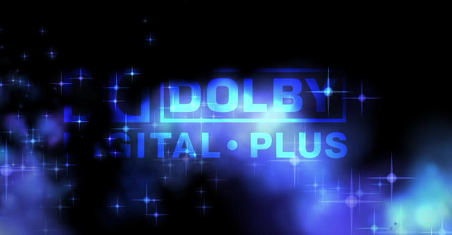 Dolby Digital Plus logo sobre fondo