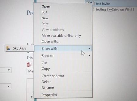 SkyDrive sharing