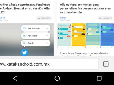Chrome Canary/Dev permite mover la barra de direcciones a la parte inferior