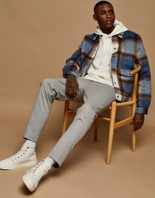 Pantalones grises ajustados de vestir estilo jogger de Topman