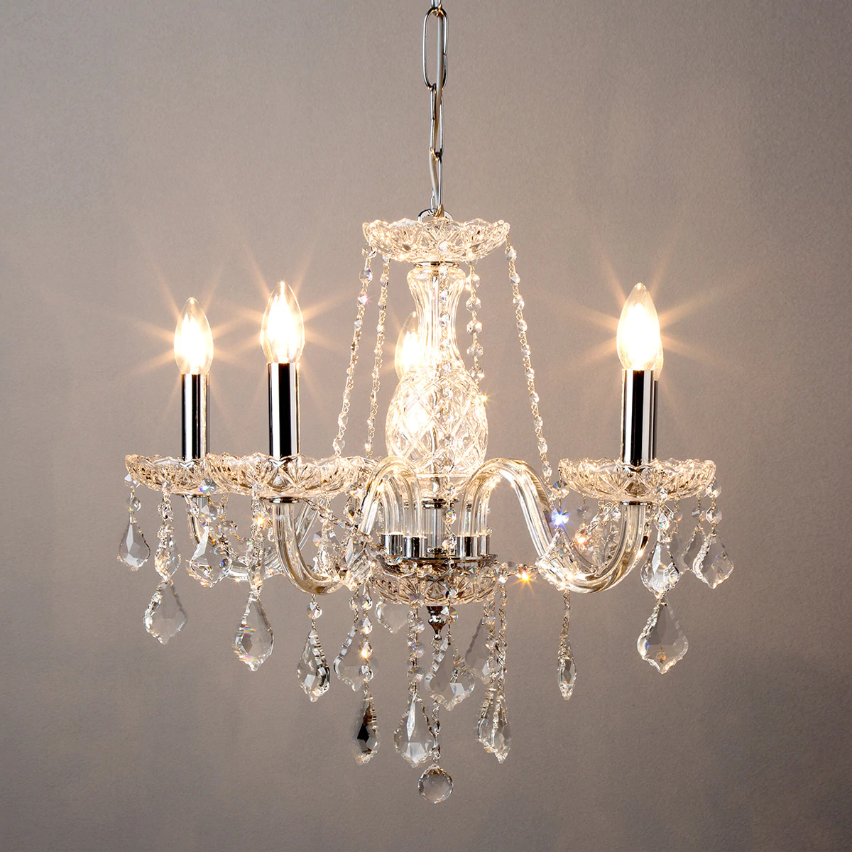 Lámpara chandelier en cristal tallado