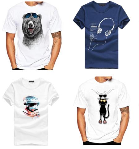 4 Camisetas de hombre por menos de 3,60 euros en Amazon