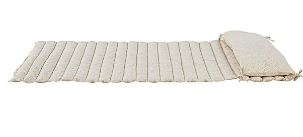 Colchoneta de playa de algodón con dibujos gráficos crudos y blancos
