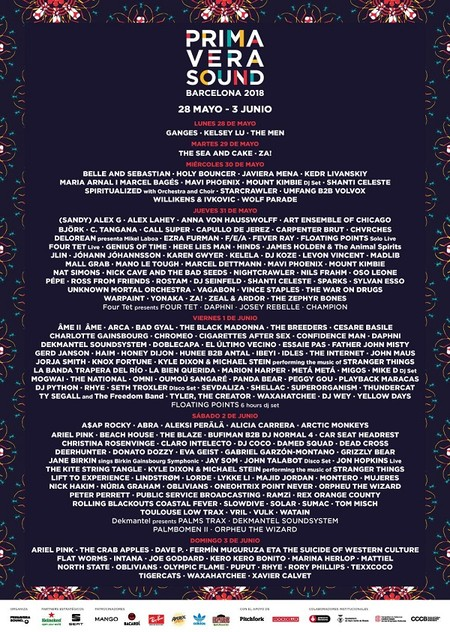cartel primavera sound 2018