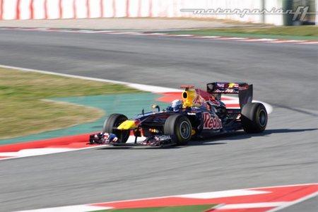 Test del Circuit de Catalunya. Sebastian Vettel, el más rápido en el primer día de pruebas