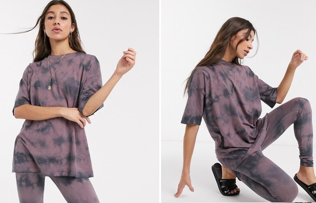 Camiseta extragrande con diseño tie-dye
