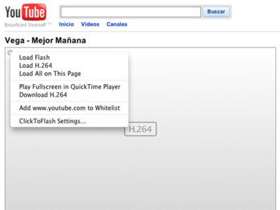 ClickToFlash: controla Flash en tu Safari