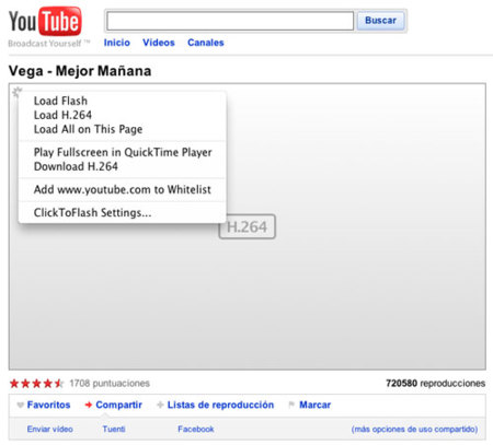 ClickToFlash: controla Flash en tu Safari