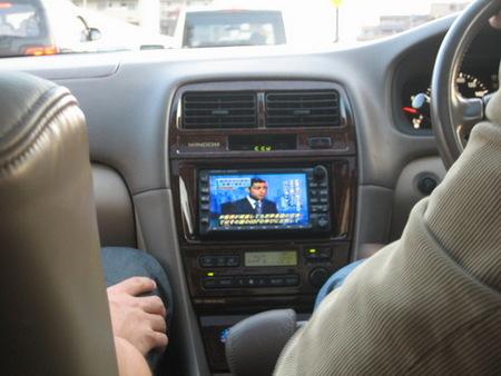 Televisión en el coche
