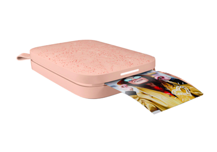 Impresora fotográfica portátil HP Sprocket Rosa. Edición especial.