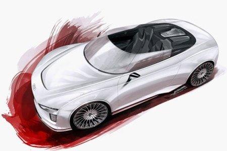 Bocetos del Audi e-tron Roadster