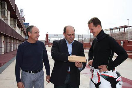 Michael Schumacher estuvo en Albacete