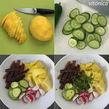 Ensalada de Mango. Pasos