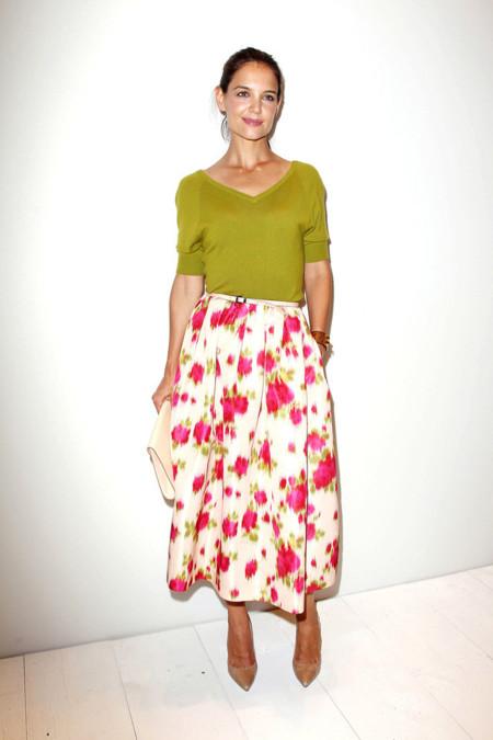 Michael Kors Katie Holmes look semana moda nueva york