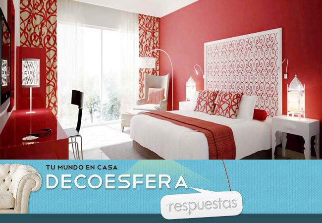 Pintar ais de rojo una pared de vuestro dormitorio la for Dormitorio original