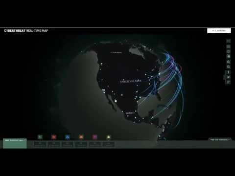 Las ciberamenazas del mundo en este mapa global en tiempo real