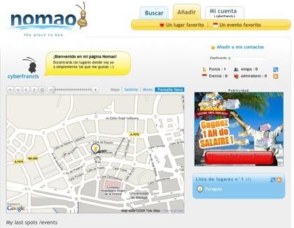 Nomao, una simpática agenda para nuestros lugares y eventos favoritos