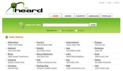 Iheard, directorio de estaciones de radio