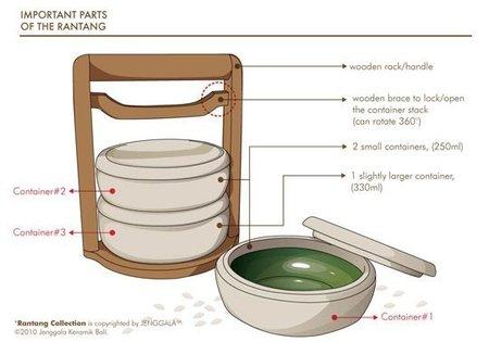 Un tupper de cerámica y madera para el trabajo