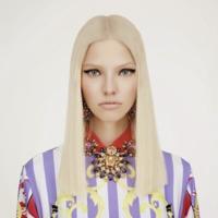 Sasha Luss es la chica Sixties para la colección Versace Resort 2015