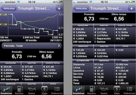 Road Trip, aplicación de control de combustible y gastos para iOS