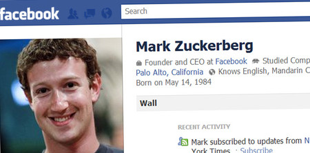 Mark Zuckerberg Facebook Profile