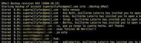 Gmail Backup - Comando