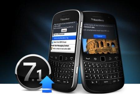 RIM lanza la actualización 7.1 de BlackBerry OS