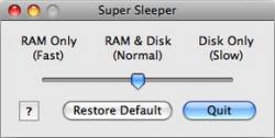 SuperSleeper, elige cómo suspender tu Mac