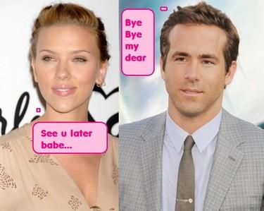 Scarlett Johanson y Ryan Reynolds divorciados...ya sabéis lo que dicen chicos, un clavo saco otro