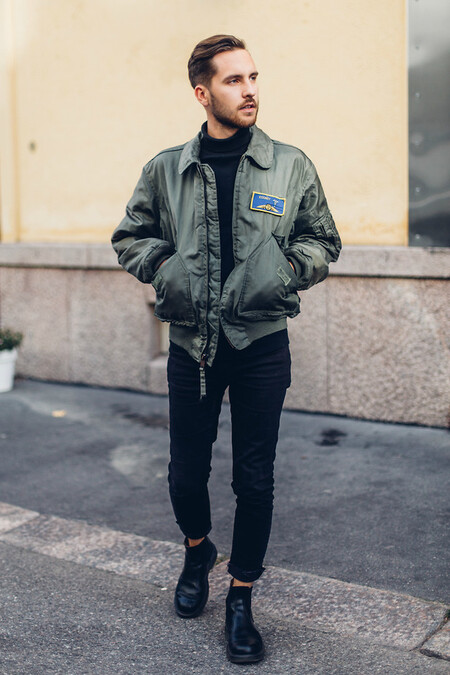 El Mejor Street Style De La Semana Sueter Cuello Alto Negro 03