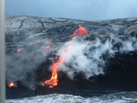 Tour de lava desde el barco